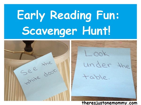 simple scavenger hunt to practice reading skills