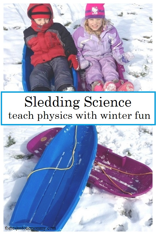 teach about physics with sledding! Fun winter science activity for kids