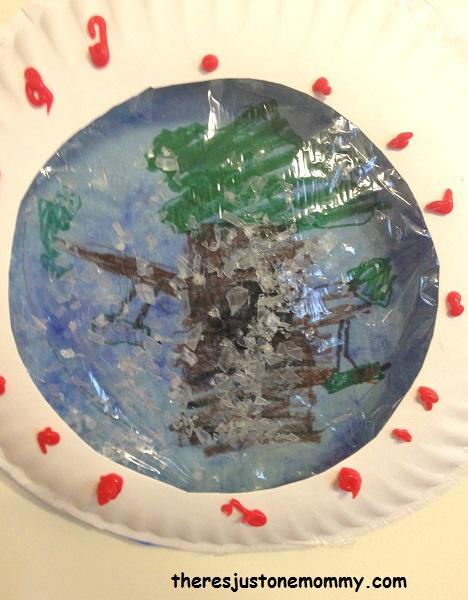 kids snow globe craft