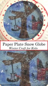 simple snow globe craft for kids