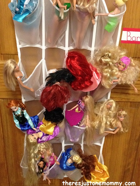 Simple Toy Storage Solutions Theres Just One Mommy - Barbie doll storage ideas