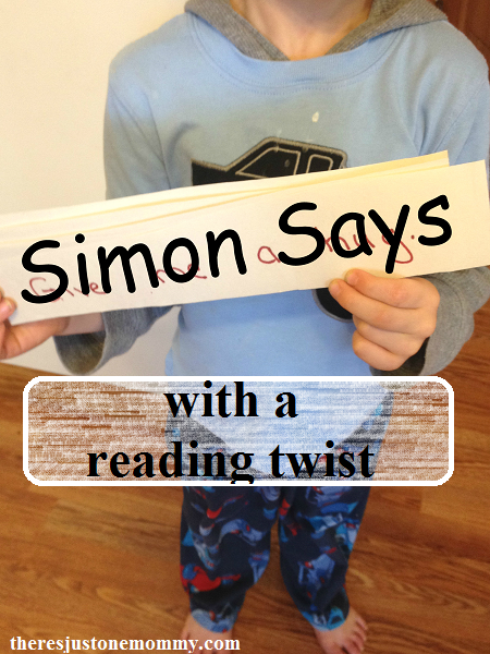 fun, easy to play Simon Says game, with a reading twist to practice early reading skills!