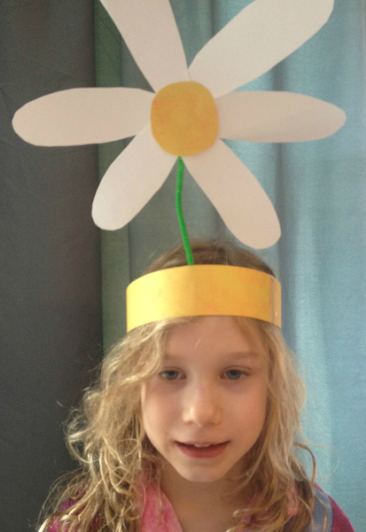 flower craft for Daisy-Head Mayzie Dr. Seuss book