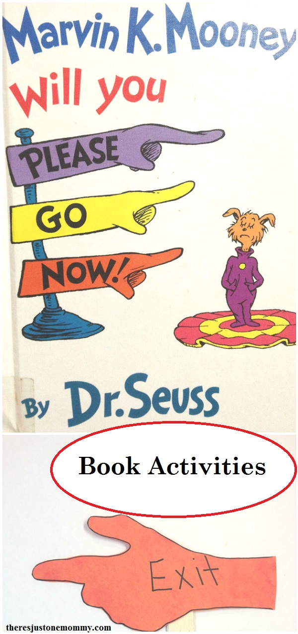 Dr. Seuss Book Activity for Marvin K. Mooney Will You Please Go Now