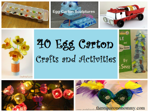 40 fantastic crafts and activities using egg cartons