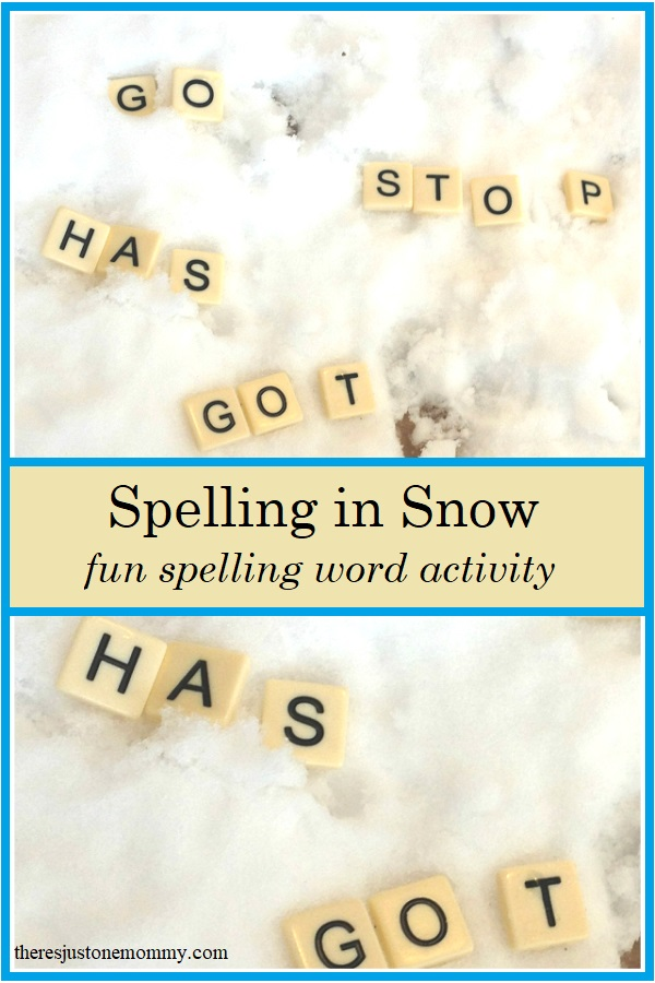 fun spelling word practice idea for winter