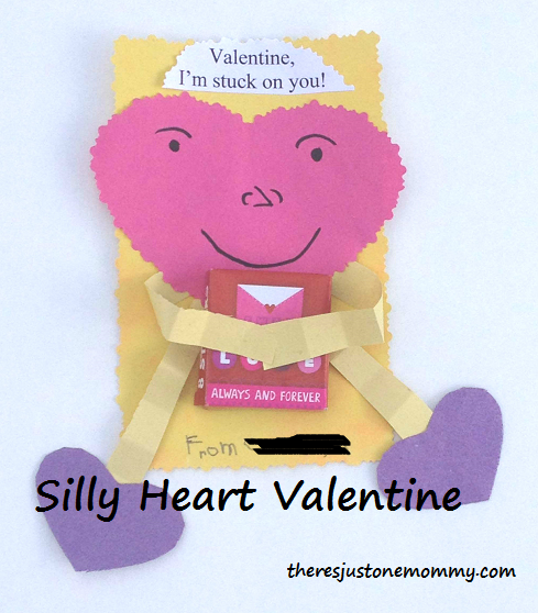 Silly Heart Character Valentine's Day Card