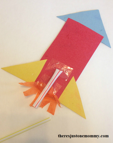 how to make a straw rocket