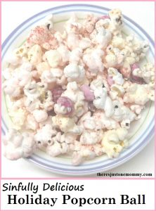 holiday popcorn ball -- delicious homemade Valentine's Day treat idea
