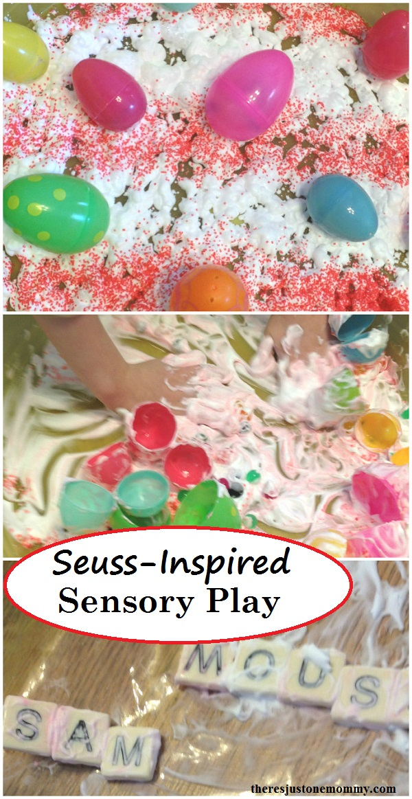 Dr. Seuss activity: simple Dr. Seuss sensory play
