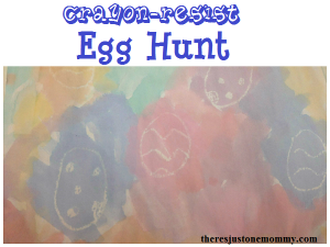 Crayon-resist Egg Hunt