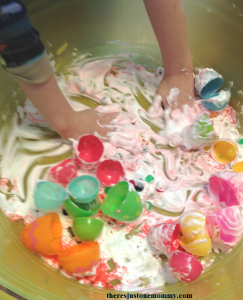 sensory play with Dr. Seuss theme