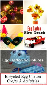 egg carton crafts and activities using egg cartons -- fun recycled crafts for spring