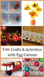 crafts & activities using egg cartons