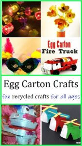 kids crafts with egg cartons
