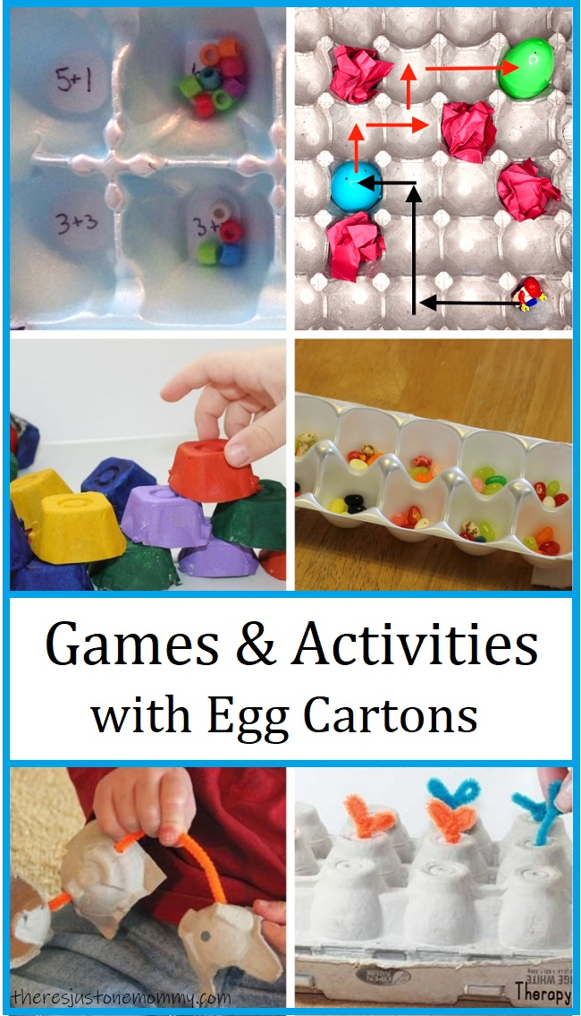 Games & activities using egg cartons