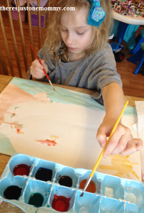 painting with homemade paint