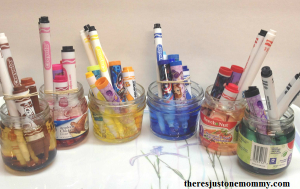 making watercolors from old markers