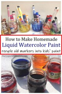 how to recycle old markers into water color paint
