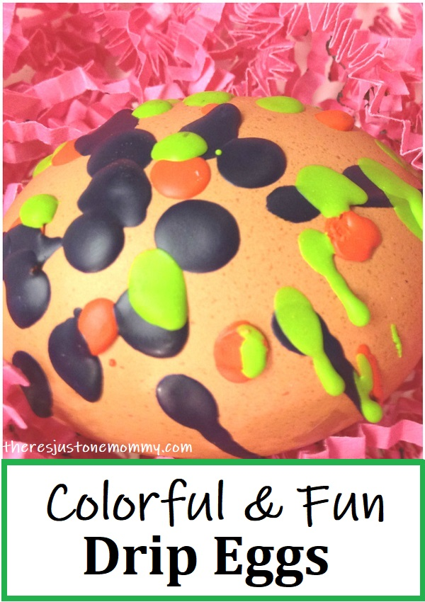 decorating Easter eggs with melted crayon