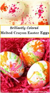 Get brilliantly colored Easter eggs -- plus recycle those old crayons; melted crayon eggs are fun to make with the kids;decorate Easter eggs with crayon
