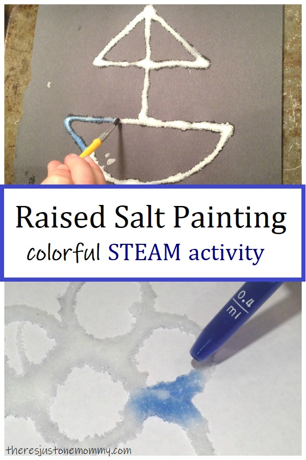 how to do raised salt painting