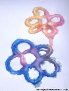 kids salt painting craft