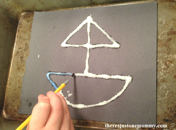 salt painting craft