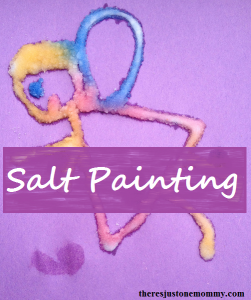 raised salt painting craft for kids