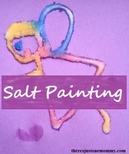 raised salt painting craft for kids