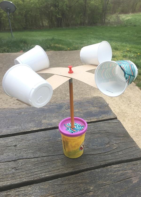 how to make a DIY wind gauge STEM activity