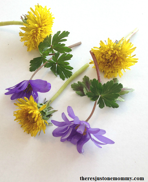 spring painting with flowers -- simple flower craft