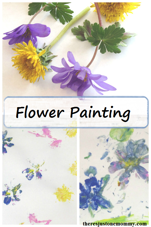 Flower Craft: Painting with Flowers -- simple spring process art for kids
