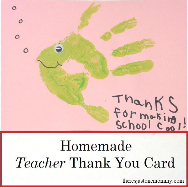 simple homemade teacher card -- perfect for Teacher Appreciation Week or end of the school year thank you card
