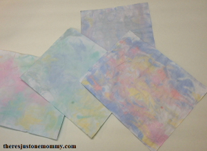 homemade marbled paper