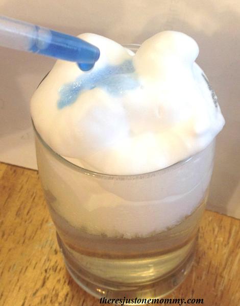 making a shaving cream cloud
