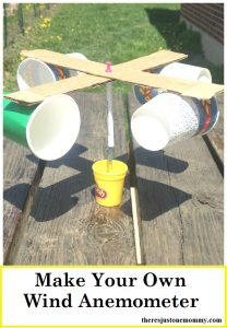 how to make a wind anemometer: make a wind meter for a fun weather unit activity