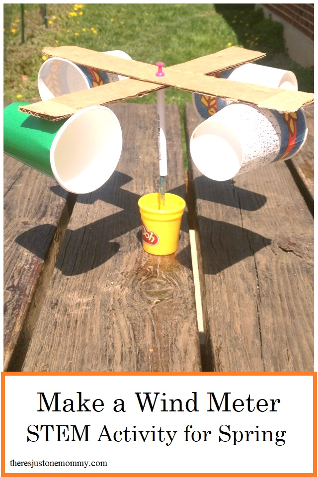 homemade wind meter STEM activity for spring