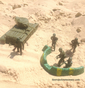 army men sand play for Memorial Day