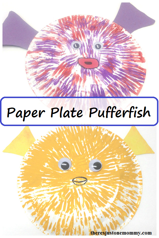 Sea Animal Craft: paper plate pufferfish