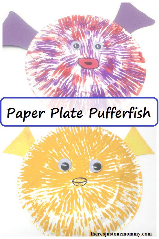 Sea Animal Craft: paper plate pufferfish