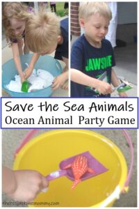sea animal birthday party game