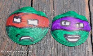TMNT seashell craft