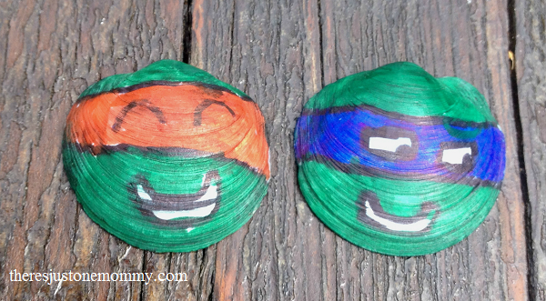 ninja turtle seashell craft