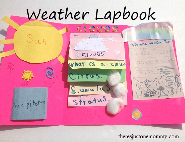 weather lapbook to go with weather unit