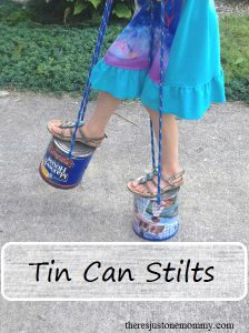 DIY Tin Can Stilts -- simple play
