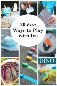 Looking for fun ways to keep the kids entertained and help beat the heat? Check out these 20 fun ways for kids to play with ice. summer kids activities,ways to keep kids cool