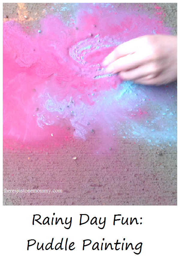 Rainy Day Fun: Puddle Painting