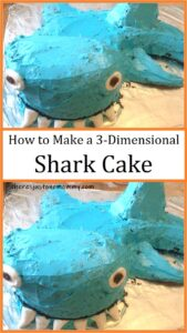 how to make a 3-dimensional shark cake