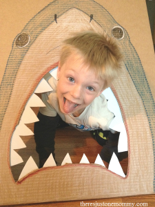kids shark party idea